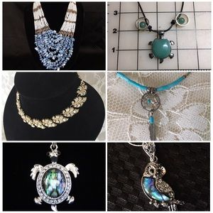 Huge Jewelry Lot of 6 Necklaces